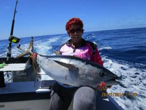 Teat's 29kg Tuna for the day