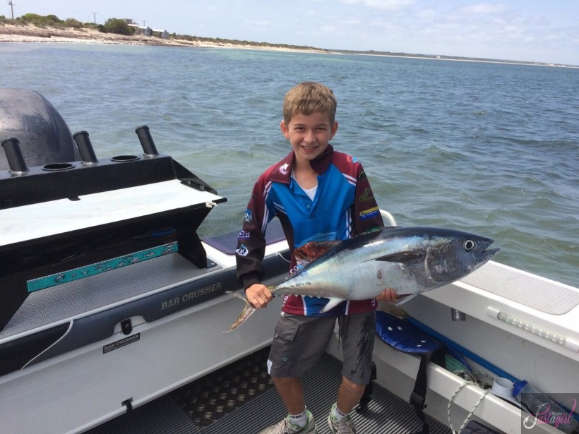 Junior Oscar with one of his several tuna. It was great to have 3 juniors this weekend